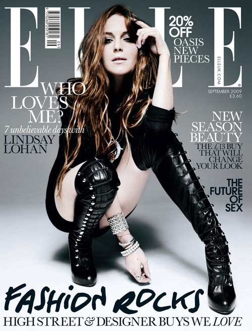 Lindsay Lohan w Elle
