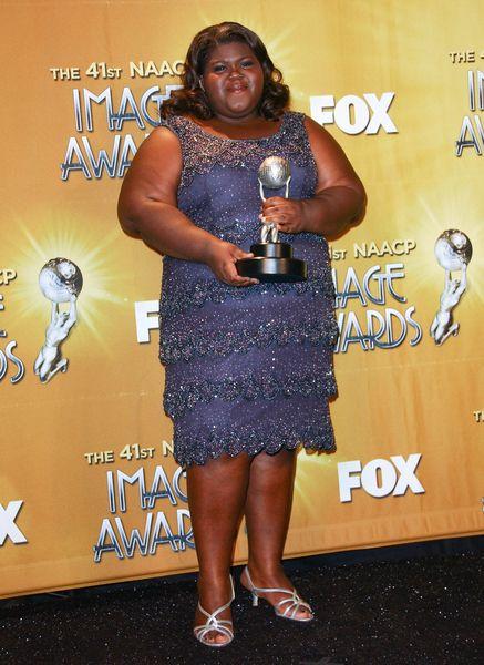 Gabby Sidibe na czerwonym dywanie