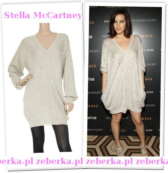 Liv Tyler w swetrze-sukience Stelli McCartney