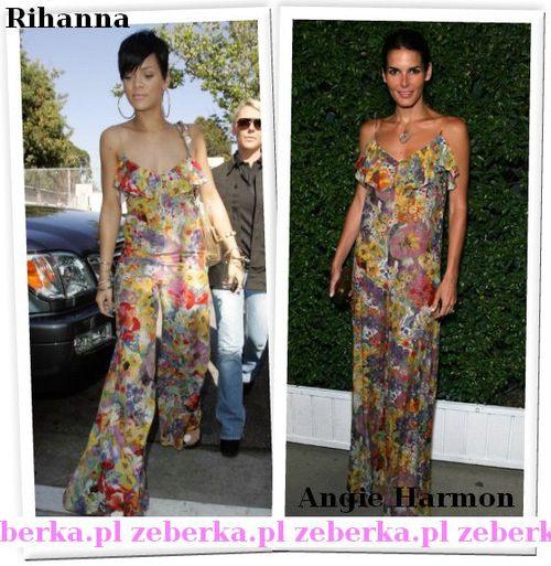 Rihanna i Angie Harmon w jednej kreacji