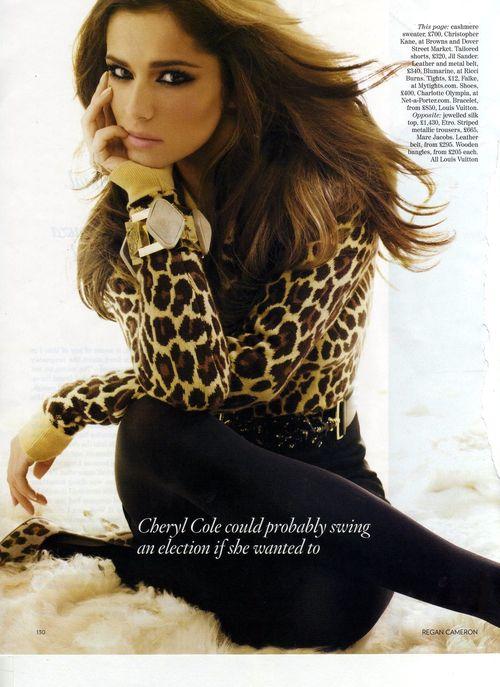 Cheryl Cole w Vogue - zimna i wyniosła
