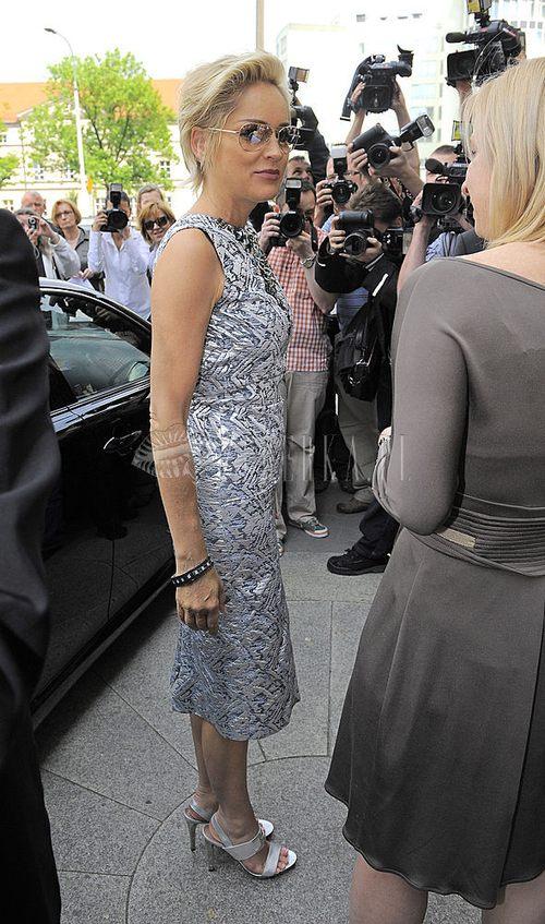 Sharon Stone cała w srebrze