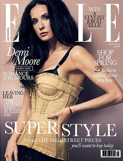 Demi Moore dla Elle