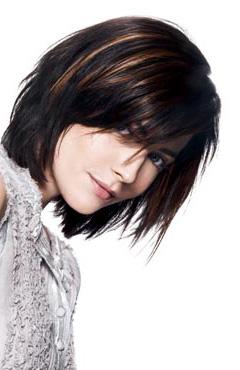 fryzura włosy brązowe