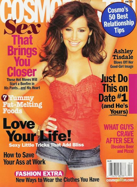 Ashley Tisdale dla Cosmopolitan