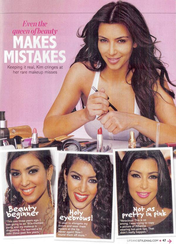 Kim Kardashian w magazynie Life & Style