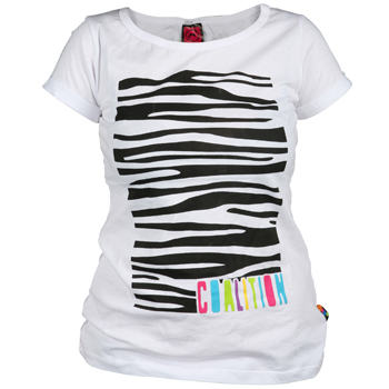 Zeberkowe T-shirty i trampki Coalition