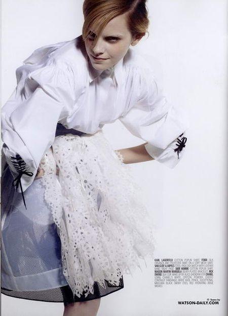 Emma Watson w obiektywie Karla Lagerfelda