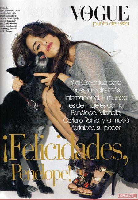 Penelope Cruz i jej pies