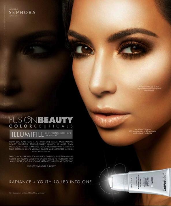 Kim Kardashian dla Fusion Beauty