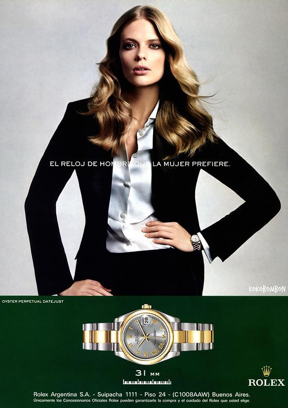Julia Stegner w kampanii Rolex