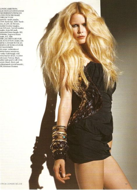 Claudia Shiffer dla Vogue'a