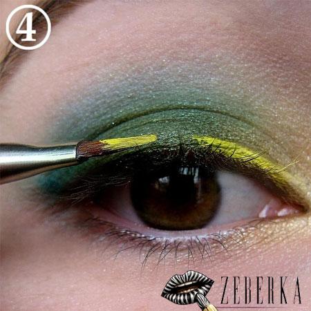 Makijaż zieleń