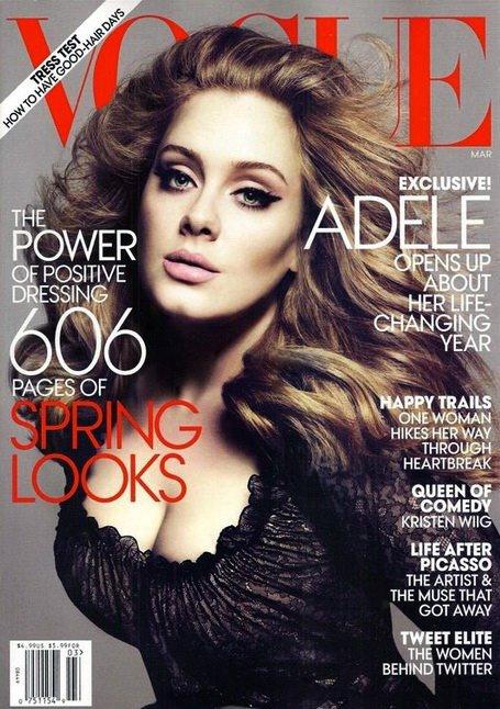 Adele po raz kolejny na okładce Vogue