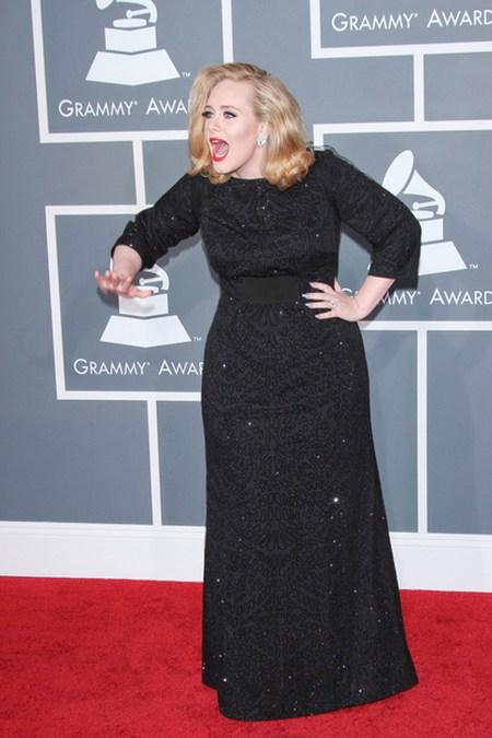 Adele Gwiazdy na gali Grammy