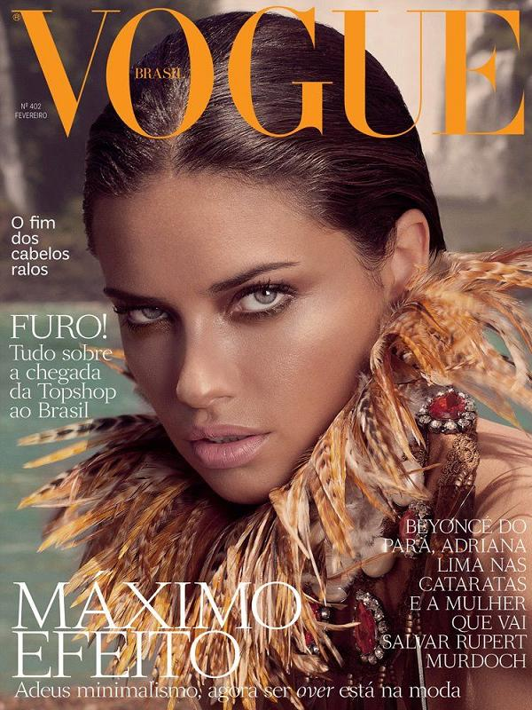 Piękna Adriana Lima na okładce Vogue Brasil