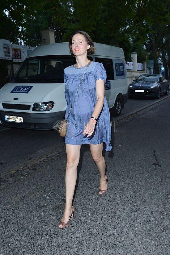 Ciążowa stylizacja Agnieszki Grochowskiej