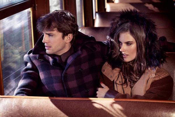 Alessandra Ambrosio i Ashton Kutcher w Orient Expressie
