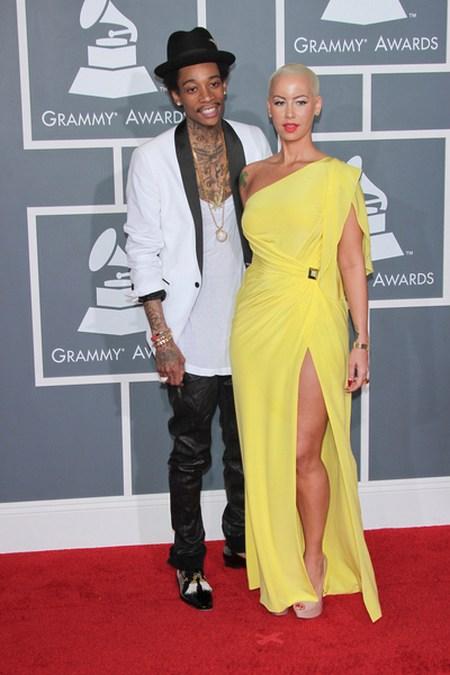 Amber Rose Wiz Khalifa Gwiazdy na gali Grammy