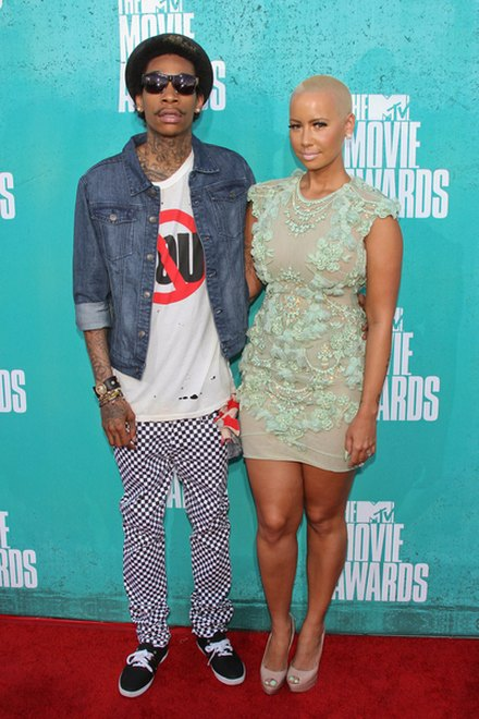 Kreacje na MTV Movie Awards (FOTO)/Amber Rose, Wiz Khalifa