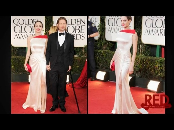 Jasne suknie na Złotych Globach (FOTO)/Angelina Jolie