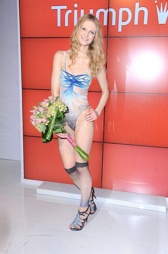Ania Piszczałka na pokazie marki Triumph (FOTO)