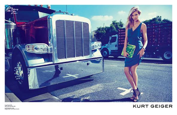 Anja Rubik w wiosennej kampanii marki Kurt Geiger