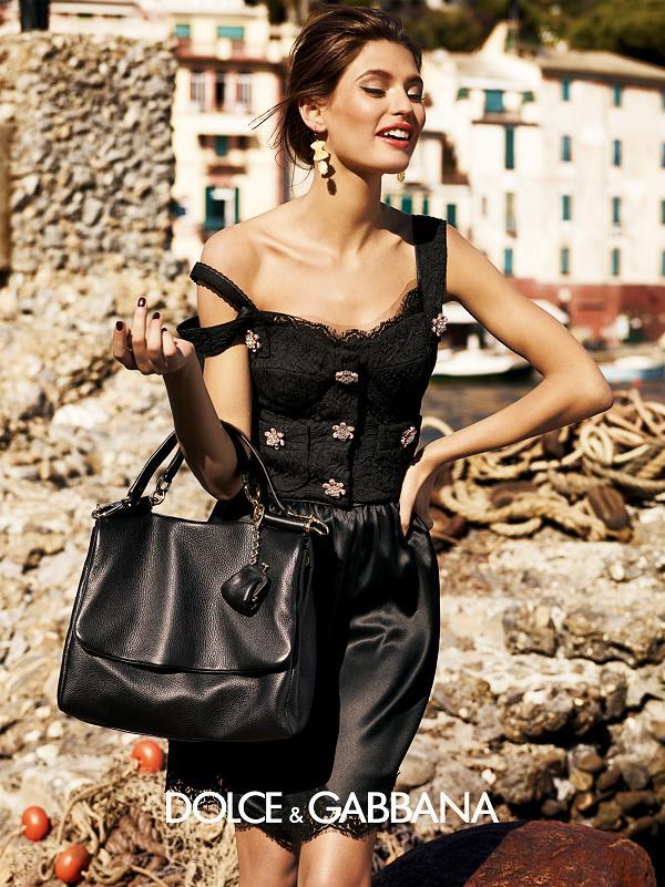 Bianca Balti po raz kolejny dla Dolce & Gabbana