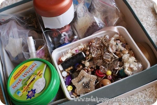 Zrób to sama: korale z masy solnej i lnu (FOTO)