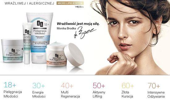 Monika Brodka promuje kosmetyki AA