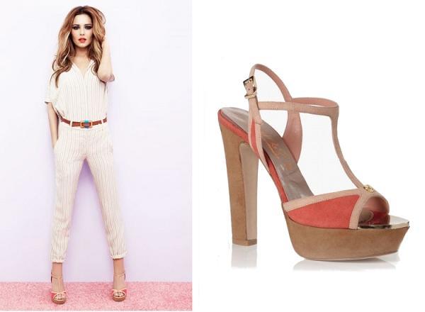 Cheryl Cole prezentuje buty na wiosnę i lato