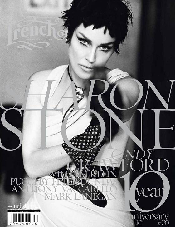 Cindy Crawford i Sharon Stone dla French Revue De Modes