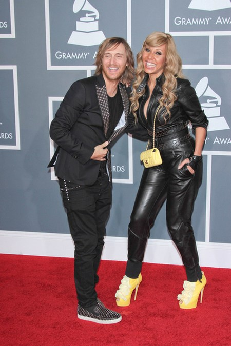 David Guetta Cathy Guetta Gwiazdy na gali Grammy