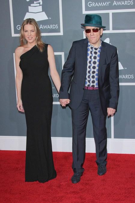 Diana Krall Elvis Costello Gwiazdy na gali Grammy