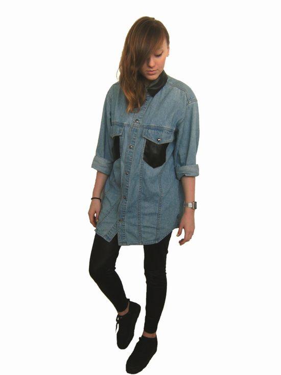 Zrób to sama: jeansowa koszula ze wstawkami (FOTO)