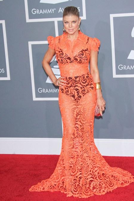 Fergie Gwiazdy na gali Grammy