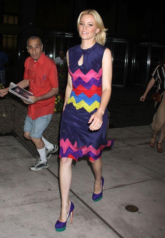 Elizabeth Banks w wzorzystej sukience (FOTO)