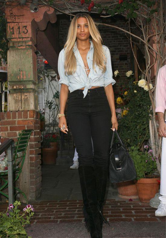 Ciara również pokochała wiązane bluzki