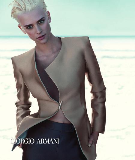 Pełna kampania reklamowa Armani na wiosnę
