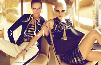 Abbey Lee Kershaw i Karmen Pedaru dla Gucci