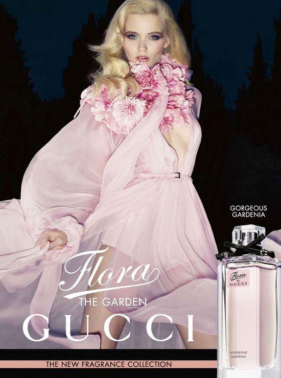 Eteryczna Abbey Lee Kershaw w kampanii Flora by Gucci