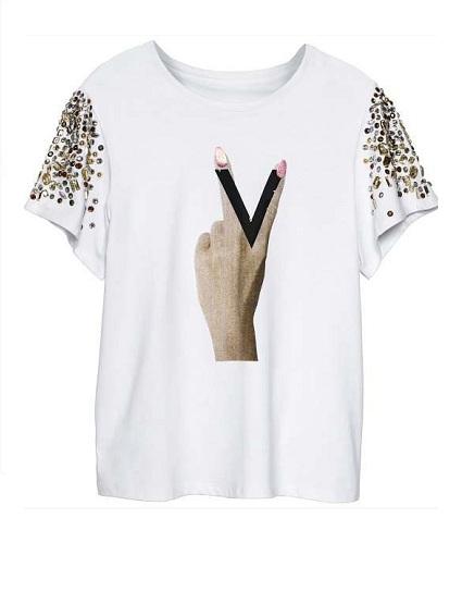 Przegląd białych T-shirtów z kolekcji jesień 2012