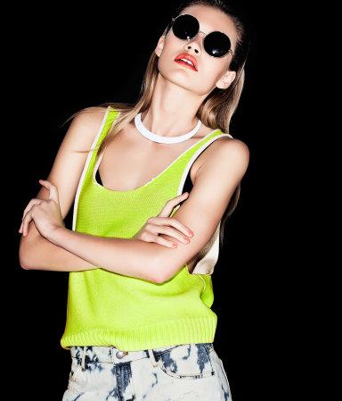 Czerń i neonowa limonka w H&M (FOTO)