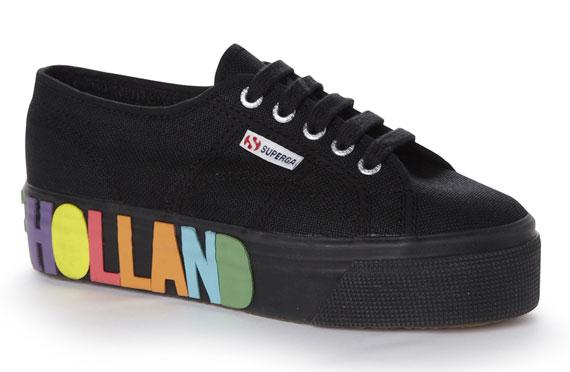 Fantazyjne buty od House of Holland for Superga