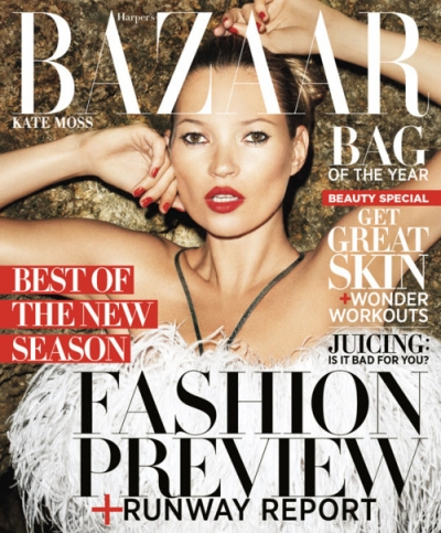 Kate Moss na okładce Harper's Bazaar