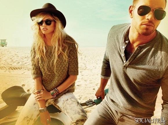 Kellan Lutz i Kate Upton reklamują ubrania (FOTO)