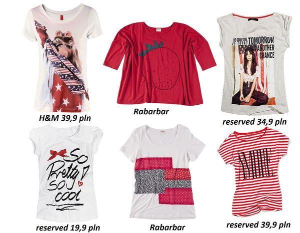 Przegląd koszulek z nadrukami (FOTO)
