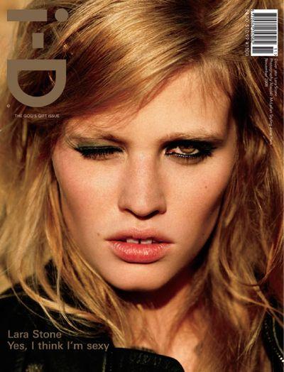 Naturalna Lara Stone na okładce i-D Magazine