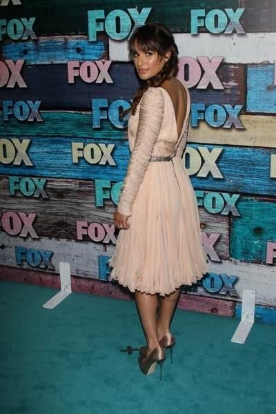 Lea Michele w sukience Emilio Pucci