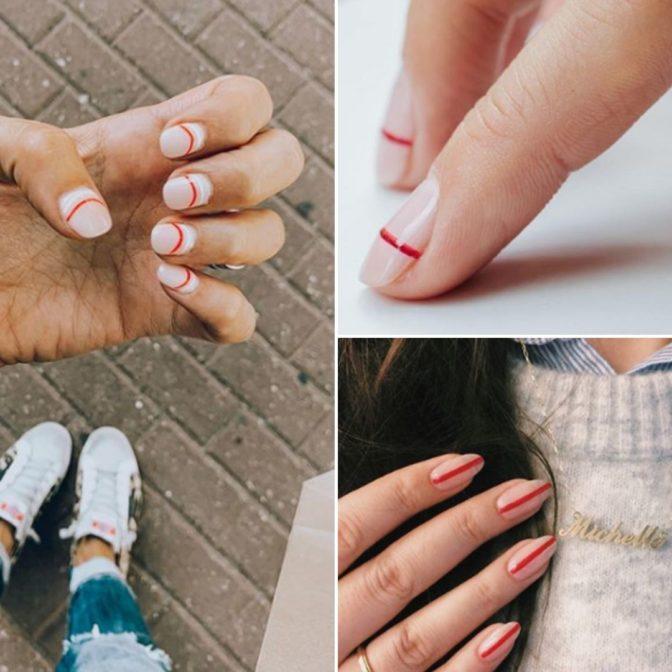 Manicure stworzony z jednej kreski. To teraz największy trend